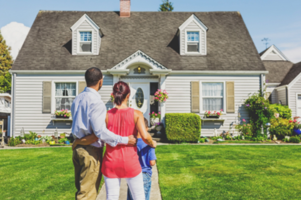 A Family looking at new home
